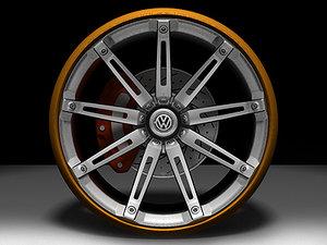 wheel concept cars 3d model
