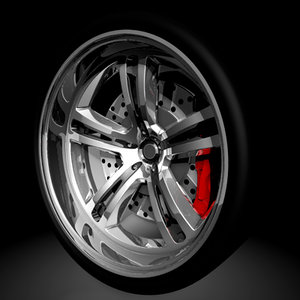 cool racing style wheels 3d model