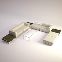 modern sofa table 3d model