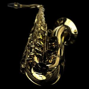 saxophone 3d max