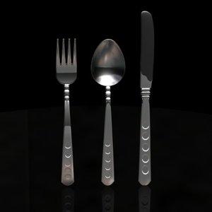 spline silverware 3d model