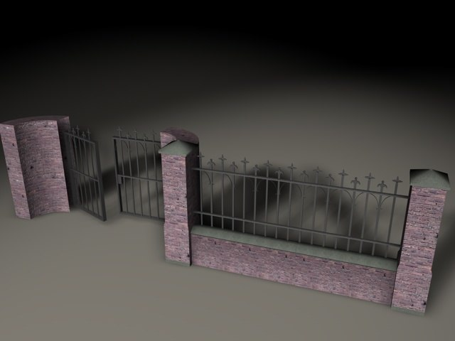 cemetery fence 3d model