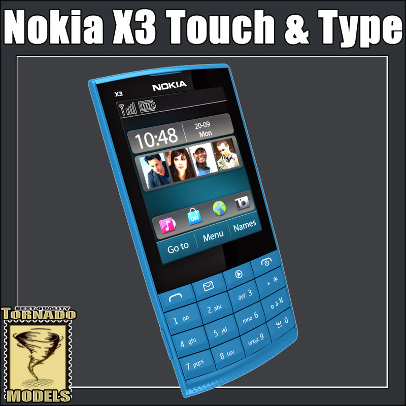 nokia x3 touch type 3d model