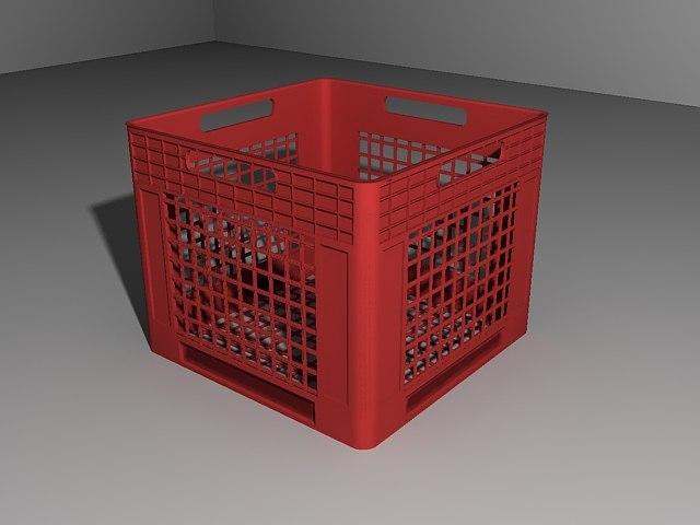 milkcrate crate obj