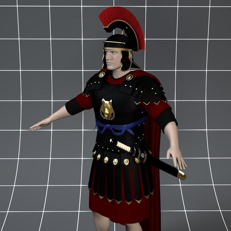 3d roman armor
