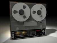 reel tape recorded 3d model