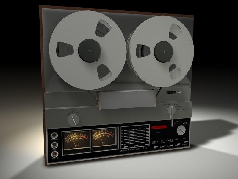 reel tape recorded 3d model