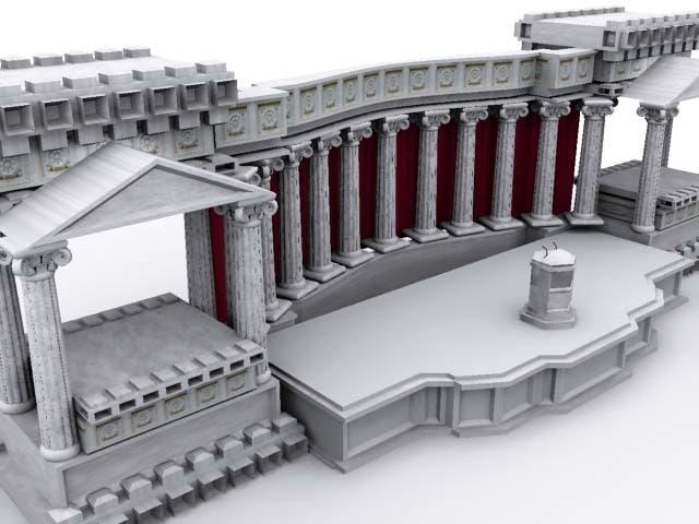 roman zipped 3d model