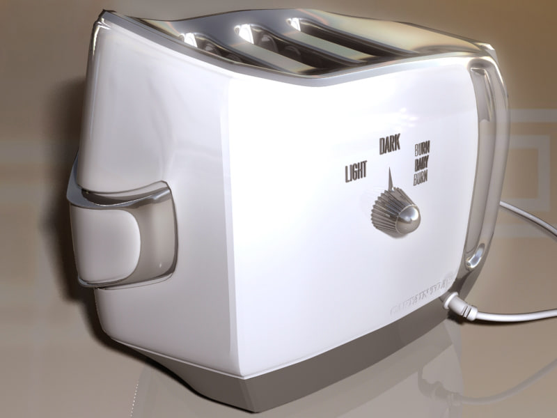 steel toaster zipped 3d max