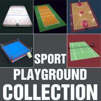 3d sport playground court