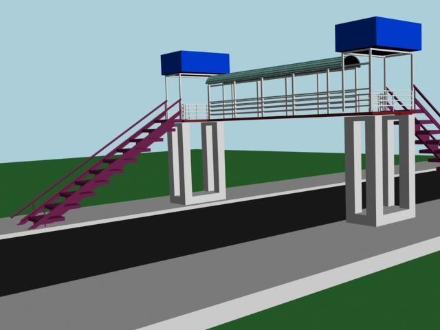 3ds max foot bridge