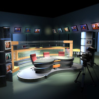 3ds tv news studio cameras