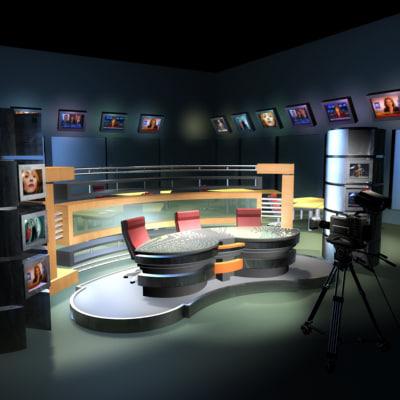 3ds tv news studio cameras