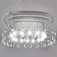 contemporary crystal chandelier 3d model