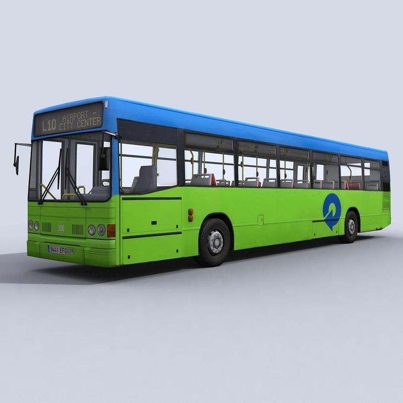 3d model urban bus