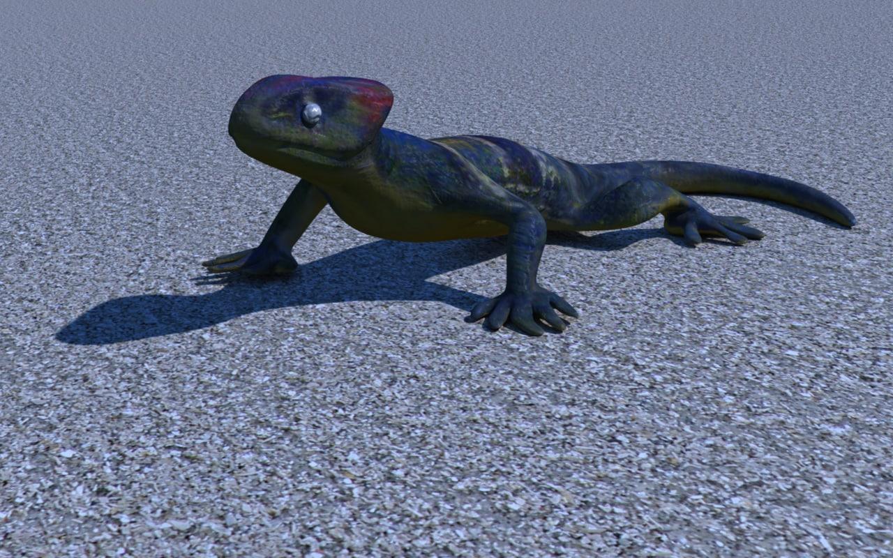 plastic lizard x