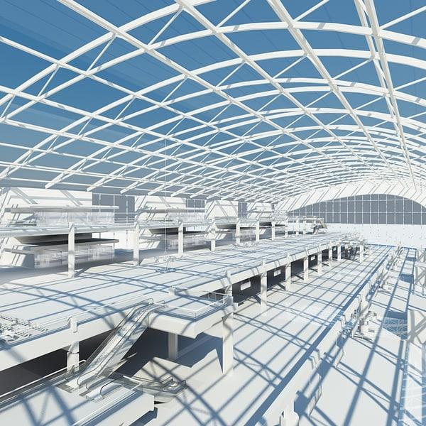 3ds max airport interior