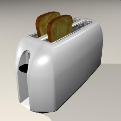 3d kitchen toaster