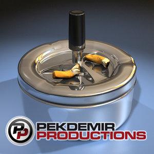 spinning ashtray 3d model