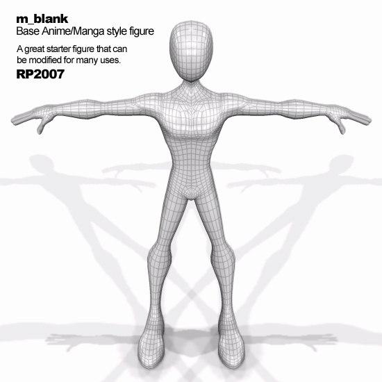figure base manga 3d model