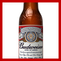 3d budweiser beer bottle