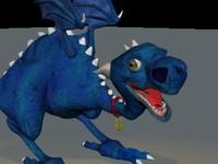 3d model of small dragon