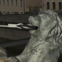 3d max sculpture lion