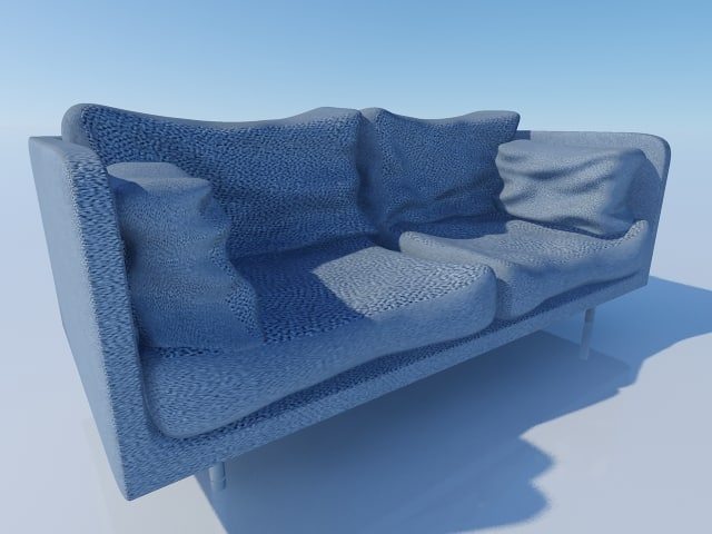 3d model accurate couch