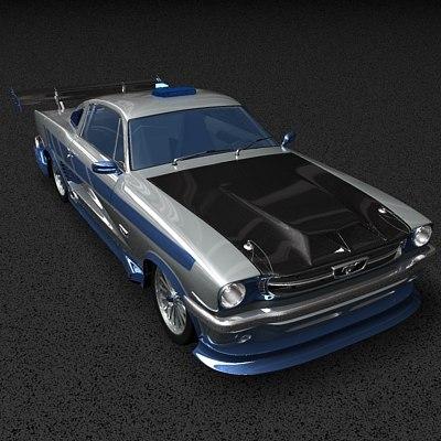 3d musclecar model