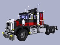 3d model gianttruck lego 3000 pieces!