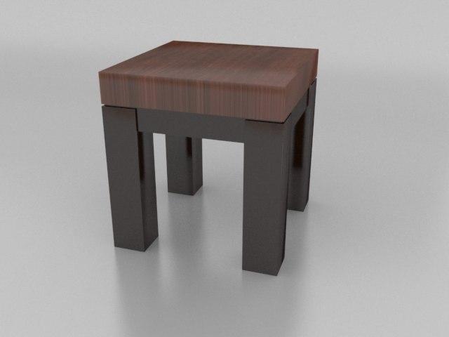 3d table - model