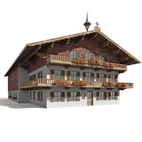 3d model of tyrol farmhouse