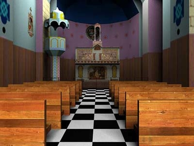 renee chateaux church 3d model