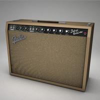 3d model fender amp