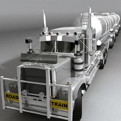 australian road train 3d max