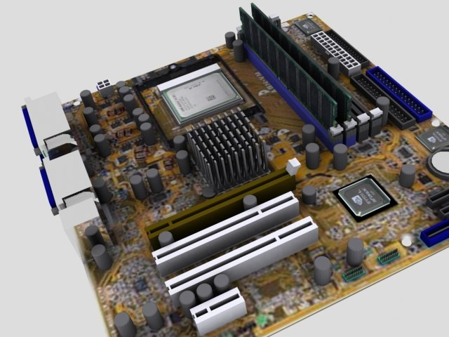 asus motherboard 3d model