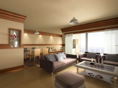 lighting living room scene 3d lwo
