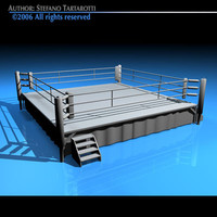 boxing ring 3d dxf