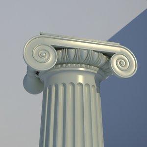 classical ionic order column 3d model
