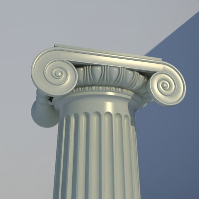 classical ionic order column 3d model