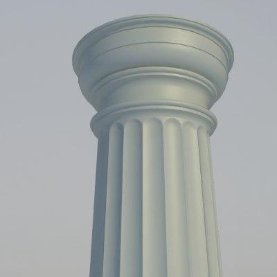 max classical doric order column