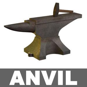 hammer anvil 3d model