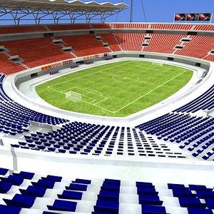 soccer football stadium 3d max