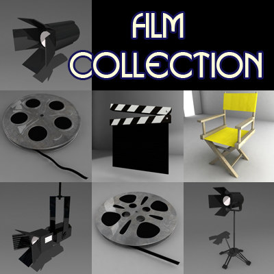 film director chair 3d model