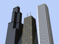 3 chicago skyscrapers