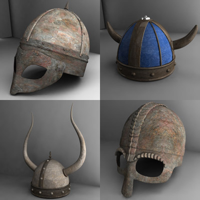 helm helmet viking 3d 3ds