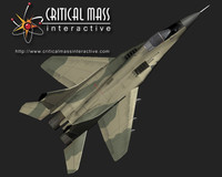 3d max mig-29 fighter jet