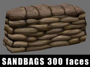3d sandbags polys