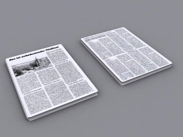 3ds max newspaper