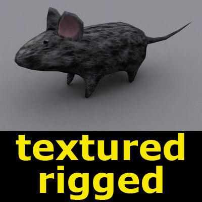 3d mouse animation bones model